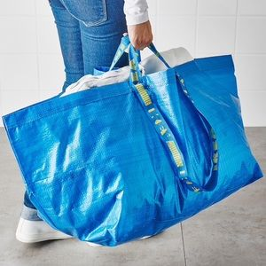 IKEA blue sturdy carrying bag Spring Cleaning new